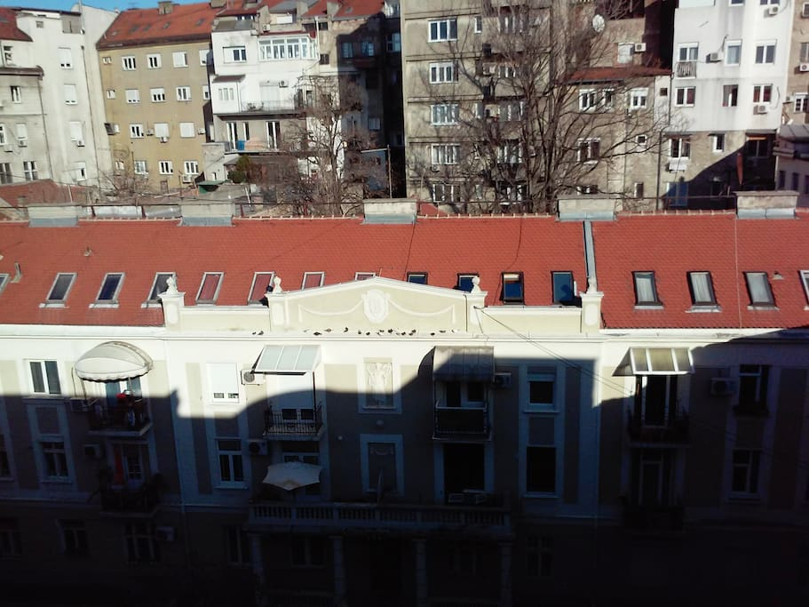 Belgrade's protected heritage - view from the rear balcony