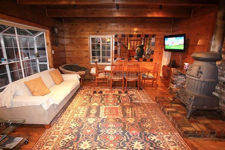 Modern and Cozy Knotty Pine Tahoe Cabin - South Lake Tahoe - Houten huisje