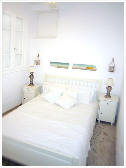 Greece, Andros, Chora - Townhouse Rental Apt#1 - Master Bedroom - Sleeps 2