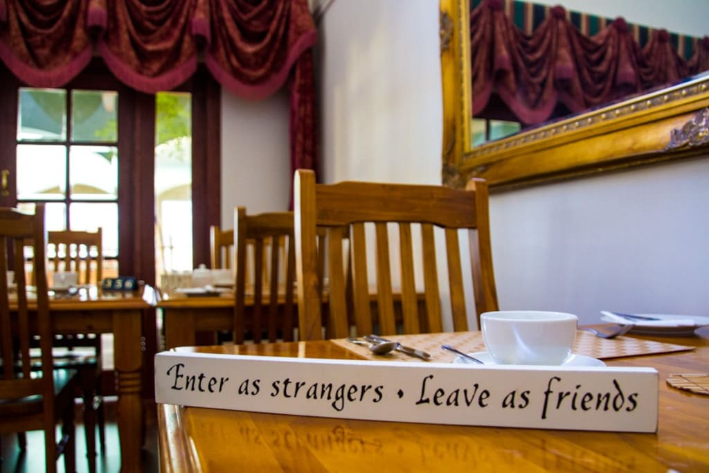 Enter as strangers.....leave as friends