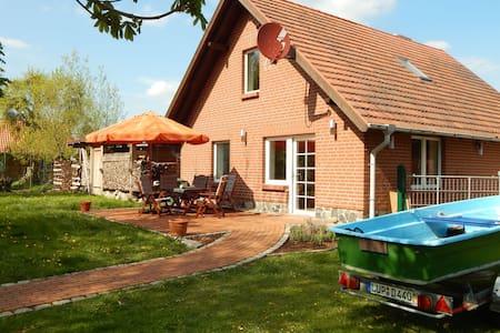 Modern Cottage near Lake in Neu Poserin