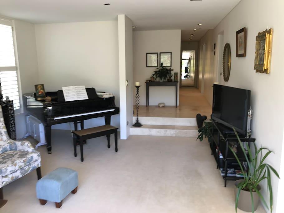 living room, towards hallway