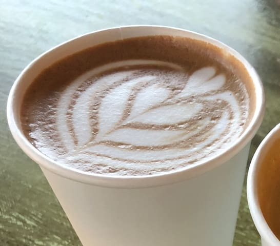 Grab an amazing cup of coffee from nearby Elementary or Little Amps coffee shops.