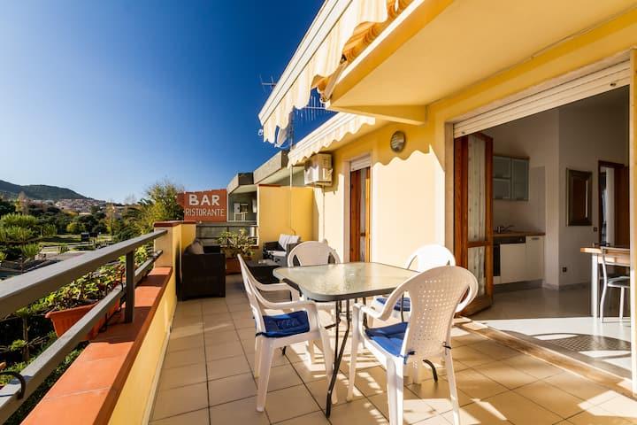 Appartamento con veranda panoramica