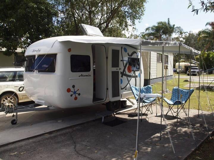 Atomic - vintage caravan glamping!