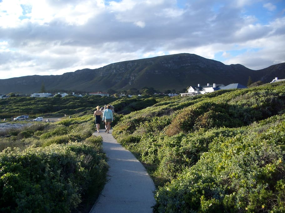 Enjoy a beautiful walk along the cliff path in front of the house.