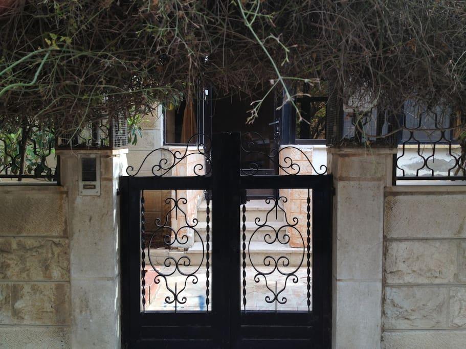 a separate entrance