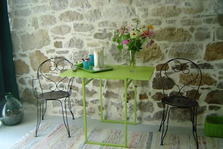 LE MOULIN DE GAUTY - Chambre VERTE - Tournemire - Bed & Breakfast