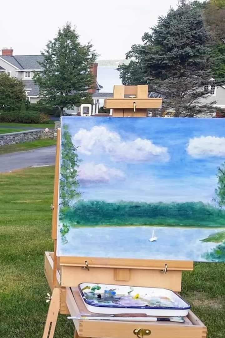 Student painting 'en plein air'