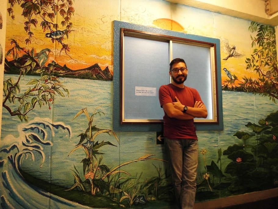 Mural paintings by various guests
