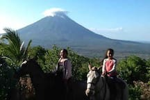 Ride horseback on the Maderas volcano
