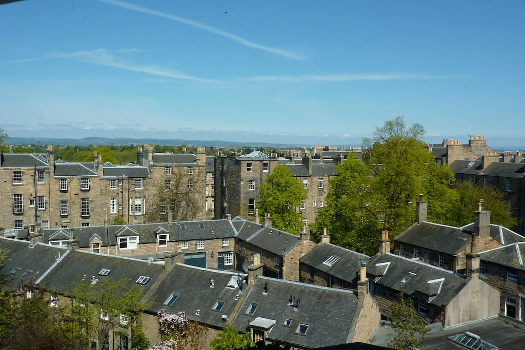 View over the city to the Firth of Forth from the bedroom