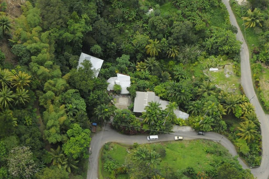 Aerial shot of property.