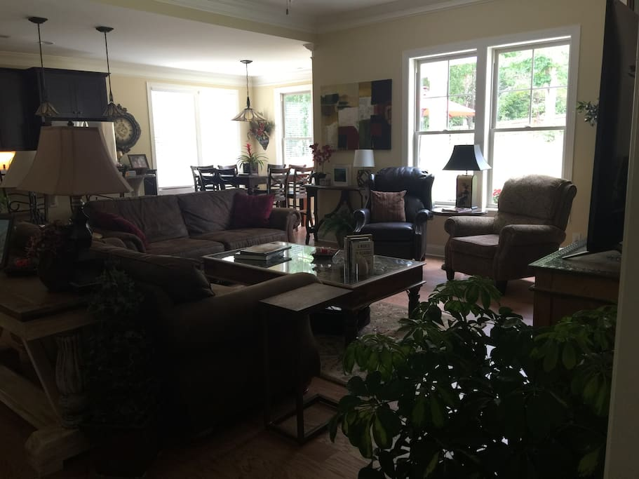 Family Room connected to kitchen