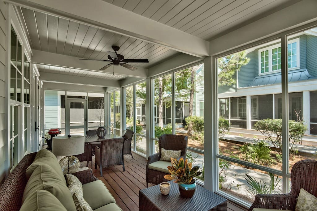 Take al fresco dining to a new level or just spend quiet evenings out on your screened-in porch.