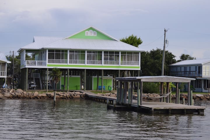 Bayfront home, Louisiana style - Cypremort Point - Rumah