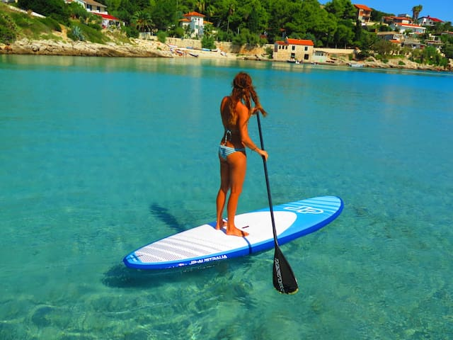 sup-stand up paddle board can be used by our guests, included in the price