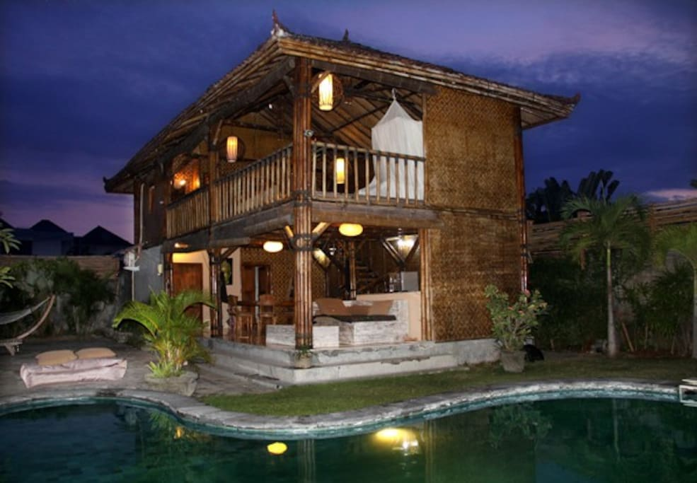 The Wonderfull Romantic Bamboo House View from the Pool