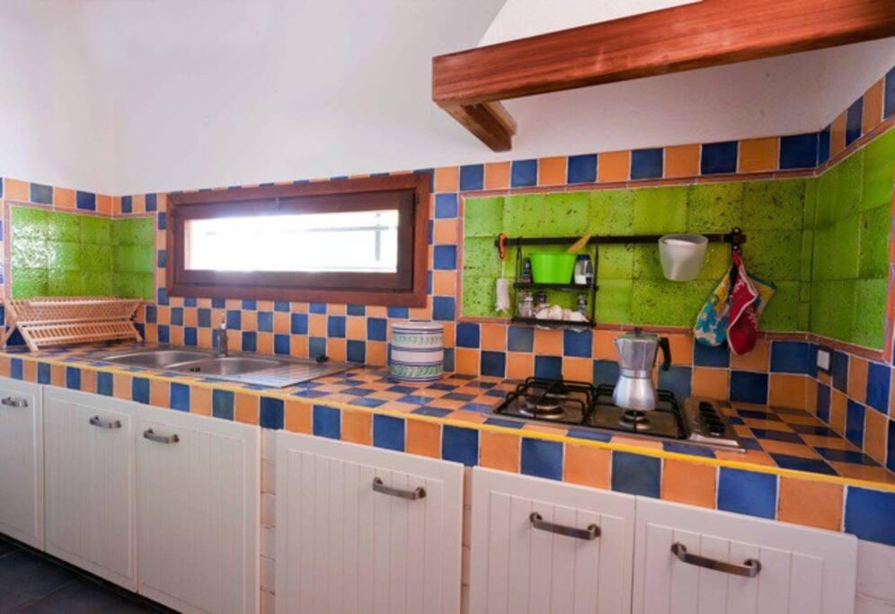cucina in muratura interna
