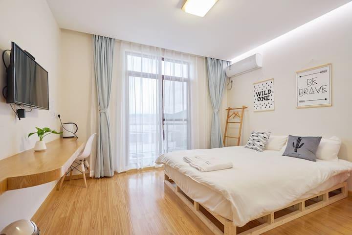 *小夢大半*-两个卧室的套间/朱家尖/近码头机场南沙大青山景区