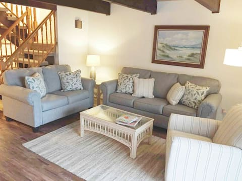 Living Room with all new furniture.  Queen sleeper sofa.