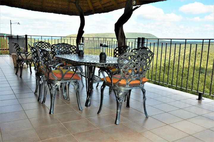 Upstairs Patio and endless valley view across Mabalingwe and beyond