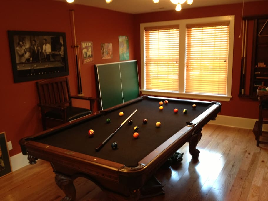 High quality black felt pool table