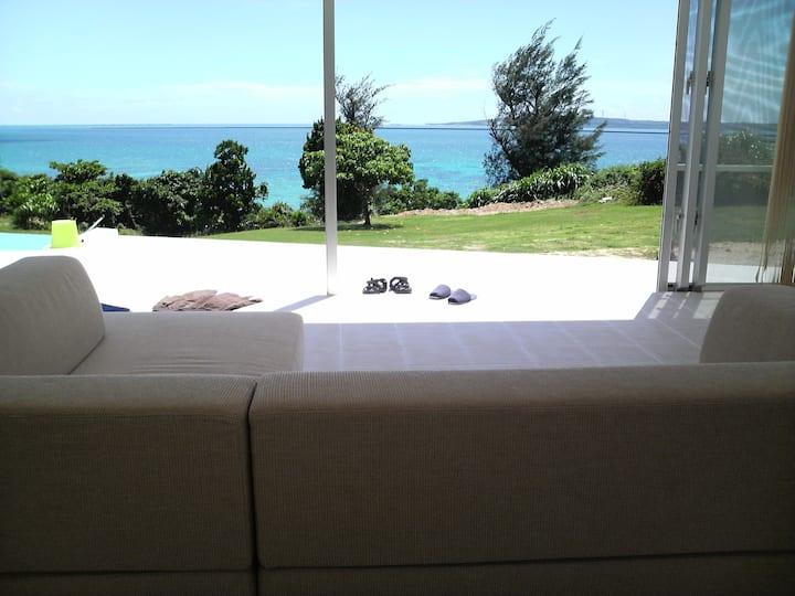 Resort House with pool near beach.