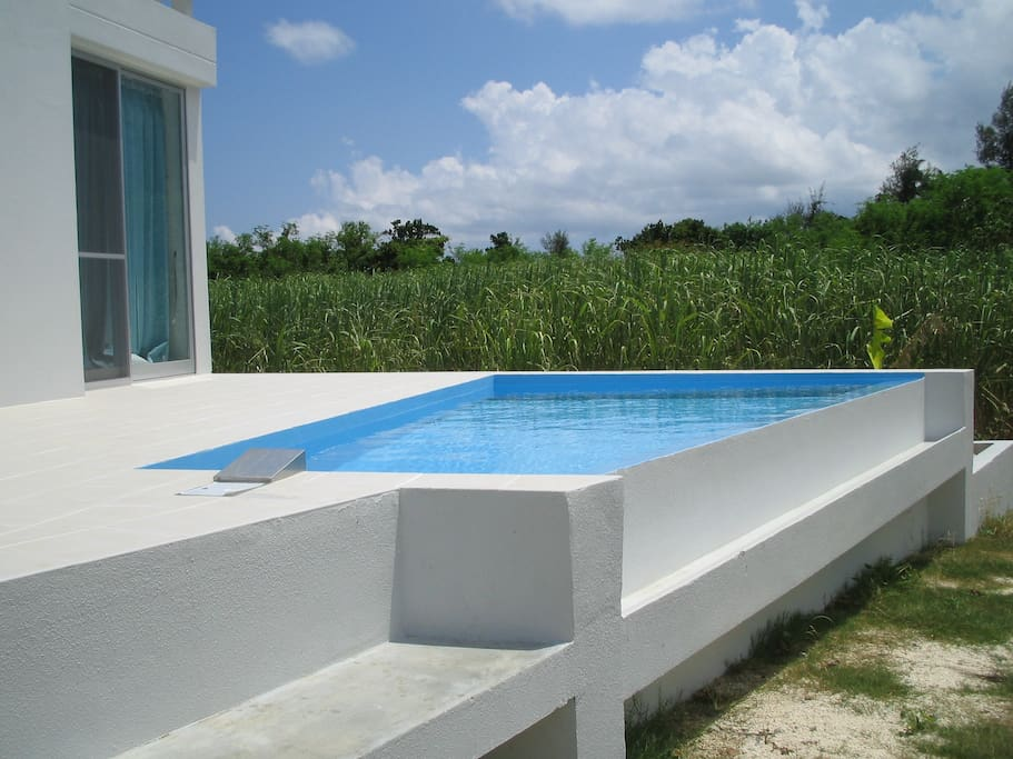3m x 5m pool at the deck.