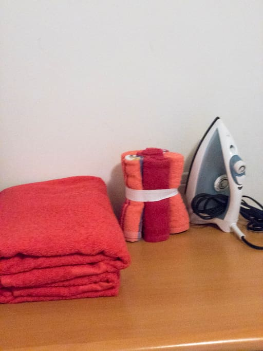 Always extra Towels and iron.