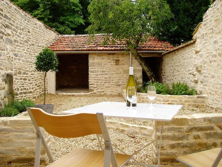 Meursault House on edge of vineyards