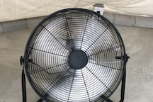 20-inch fan to cool off during warm months. El Nopal does NOT have a portable AC for cooling in hot months. In winter months all beds come with heated blankets.