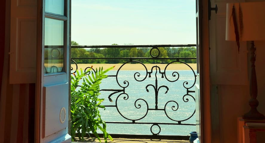 Logement de charme vue sur Loire à Ingrandes - Le Fresne-sur-Loire - Apartemen