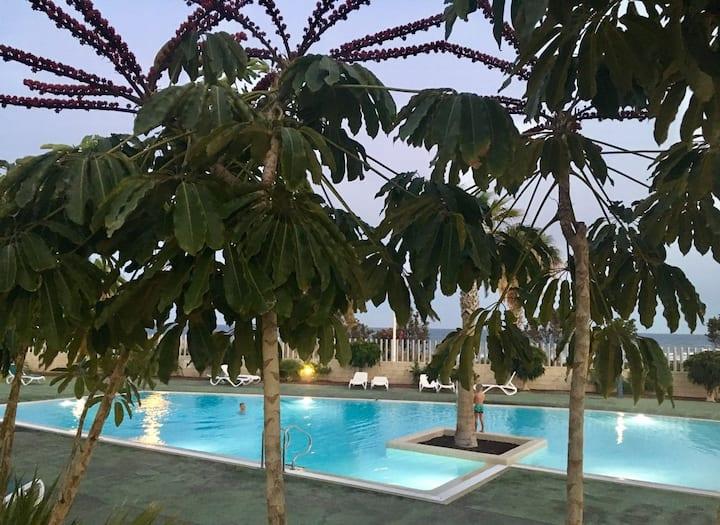 Beach apartment - ocean view, pool, free WIFI