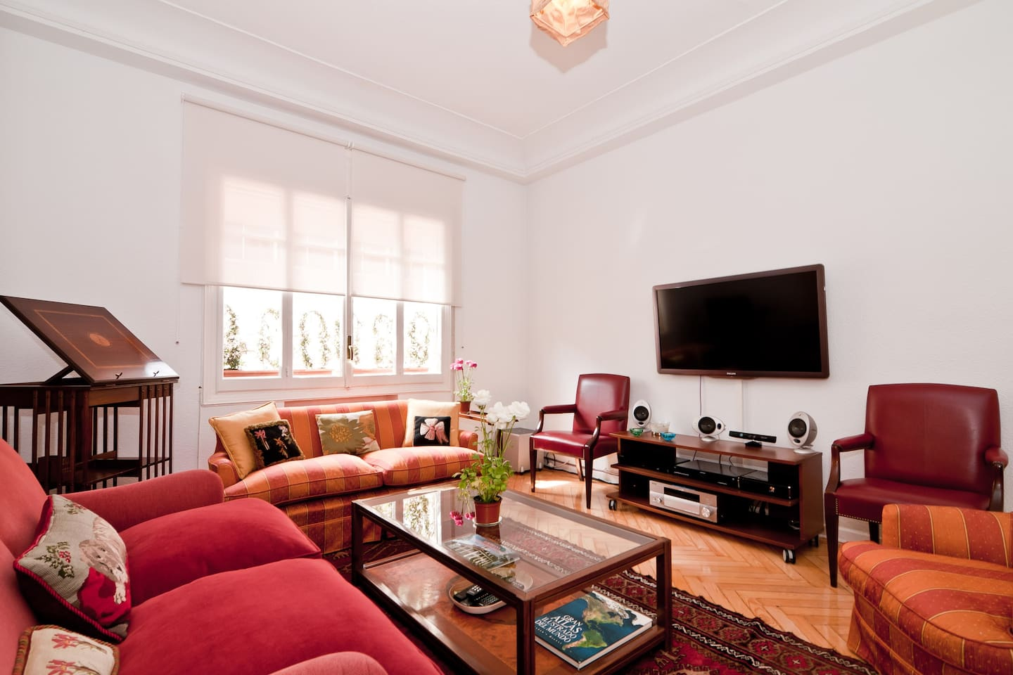 Living room: access to common areas. Free Wi-Fi in all the apartment