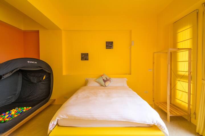 黃色雙人~盪鞦韆房 獨力帳篷