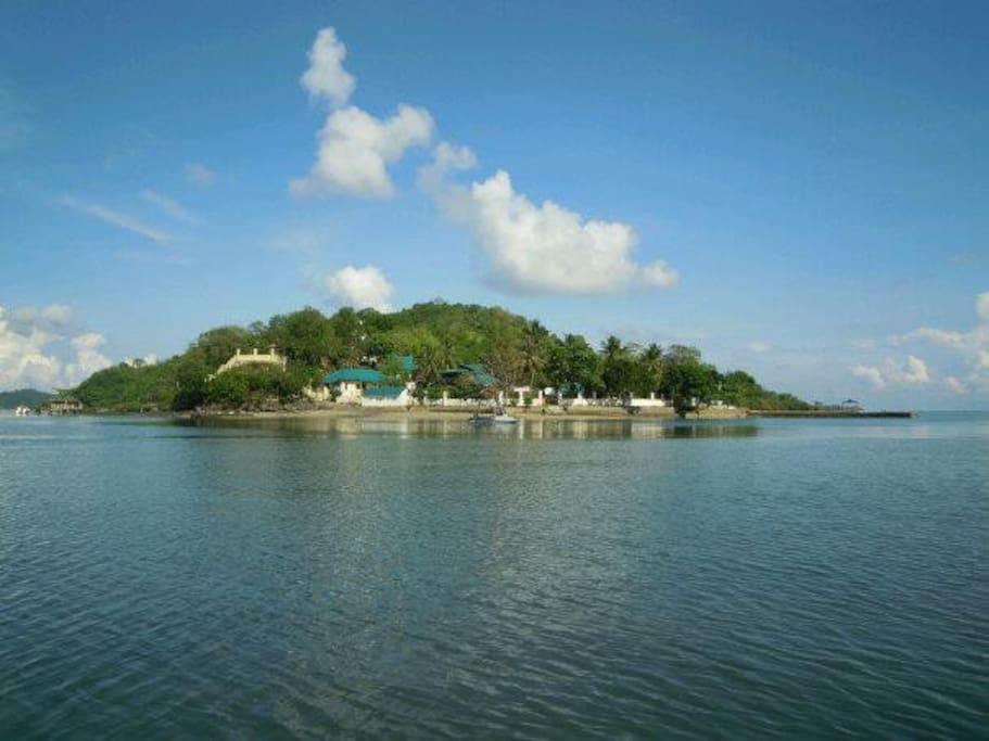 View approaching Secret Island Resort