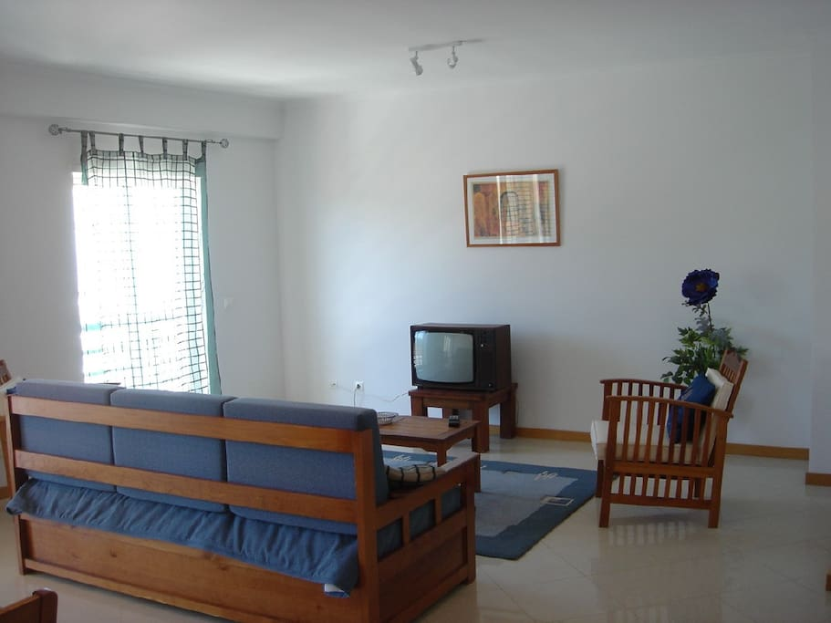 Living room with sofa bed for 2