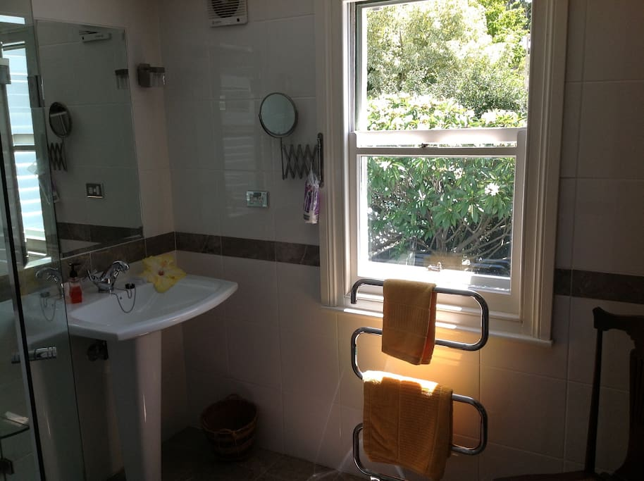 Bathroom which overlooks rear garden