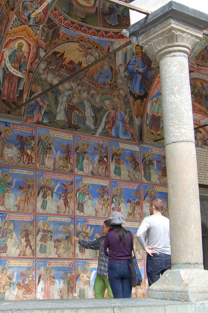 A small portion of the frescoes at Rila