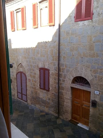 View on the ancient village from the bedroom