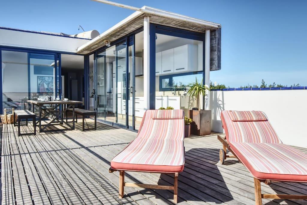Terraza solarium de 40m2 con increibles vistas
