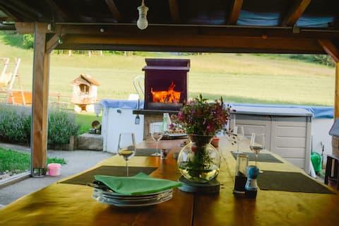 Vacances à la ferme en famille
