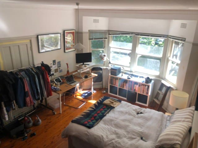 Gorgeous room and desk on Sydney Harbour