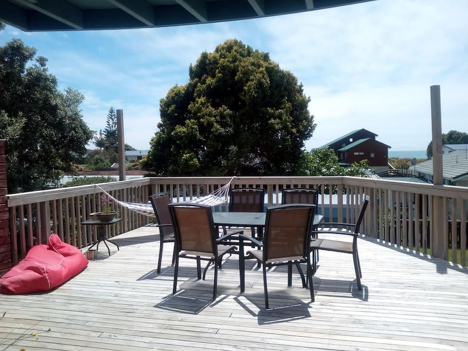 Fabulous large deck with BBQ