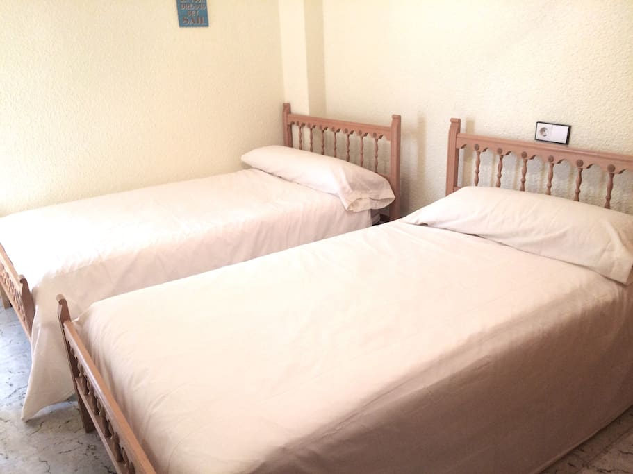 Habitación 3 con DOS camas de 1,05  más su armario
