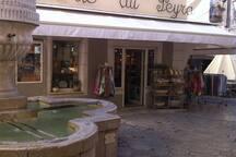 hyper centre citée historique de vence à coté de la fontaine , place du peyra