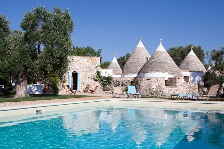 Trulli Fico d'India: Luxus Trulli mit privatem Pool - Ceglie Messapica - Haus