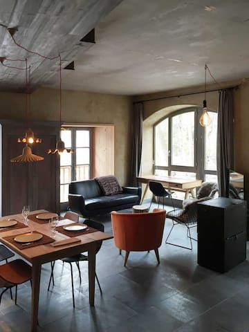 Appartement de charme, vue montagne - Le Monêtier-les-Bains - Apartamento
