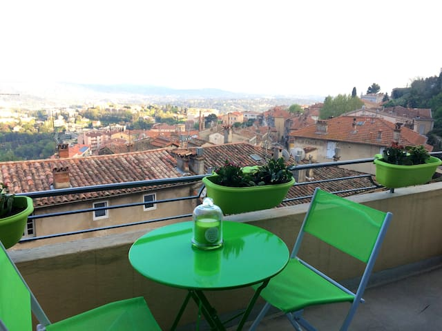 Charming apartment with sea view - Grasse - Appartement
